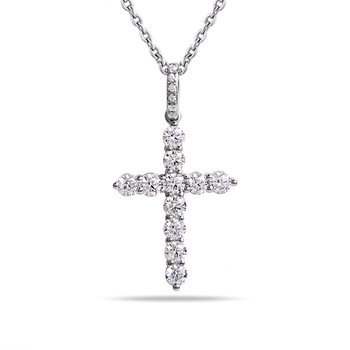14K Diamond cross  0.79CT T.W.