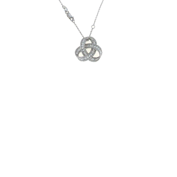 18Kt White Gold Diamond Knot Pendant