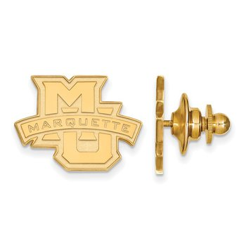 Gold Marquette University NCAA Lapel Pin