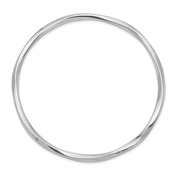 Sterling Silver Rhodium-plated 3.50mm Bangle