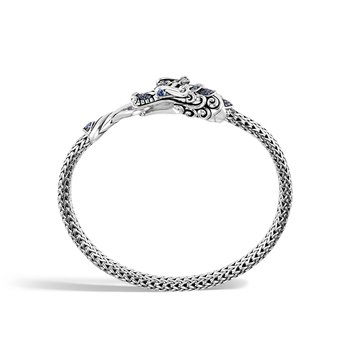 Legends Naga 5MM Station Bracelet in Silver with Gemstone