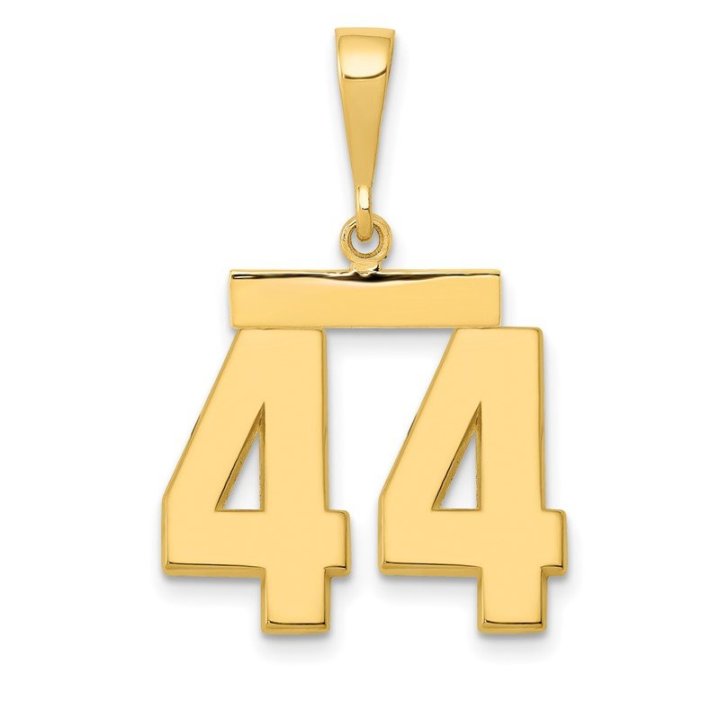 Quality Gold 14k Medium Polished Number 44 Charm