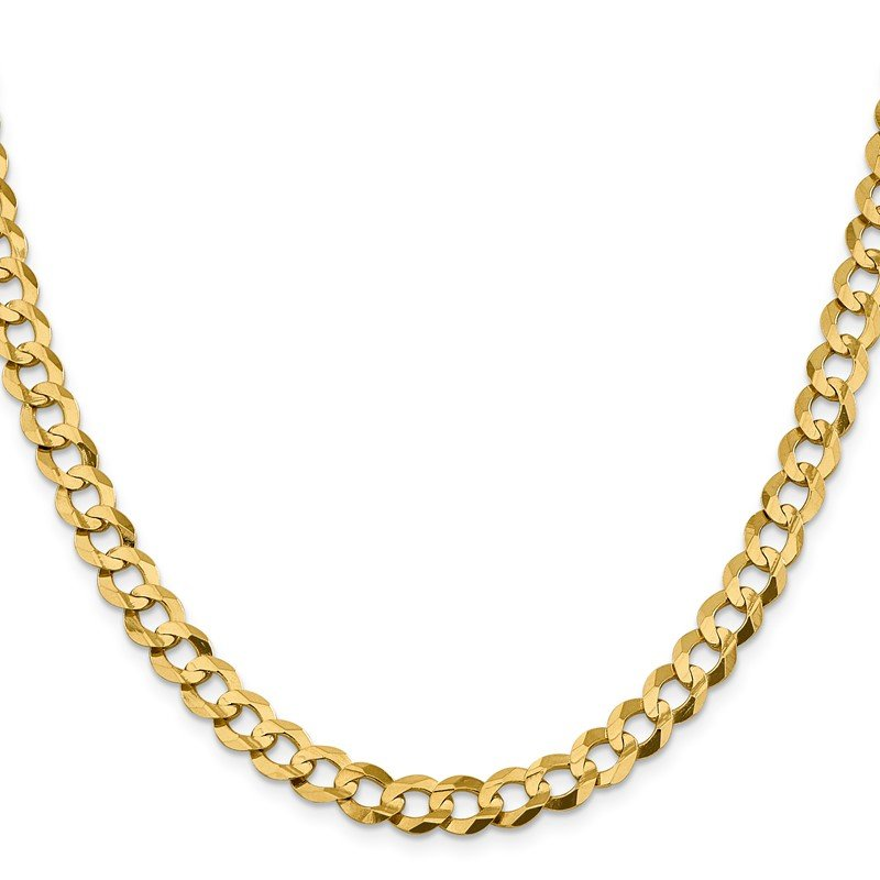Quality Gold 14k 8.3mm Lightweight Flat Cuban Chain