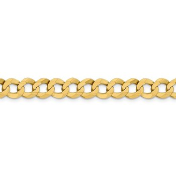 14k 8.3mm Lightweight Flat Cuban Chain