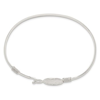 Sterling Silver Polished Angel Bangle