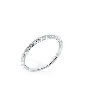 Refined Engraved Milgrain Wedding Band