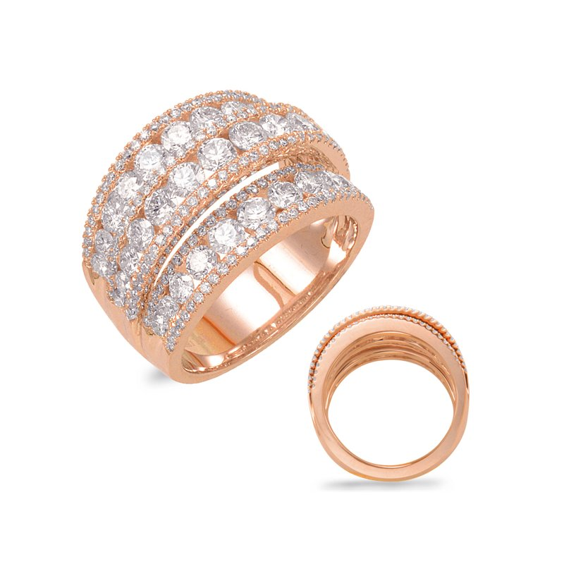 S. Kashi  & Sons Rose Gold Diamond Band