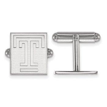 Sterling Silver Temple University NCAA Cuff Links