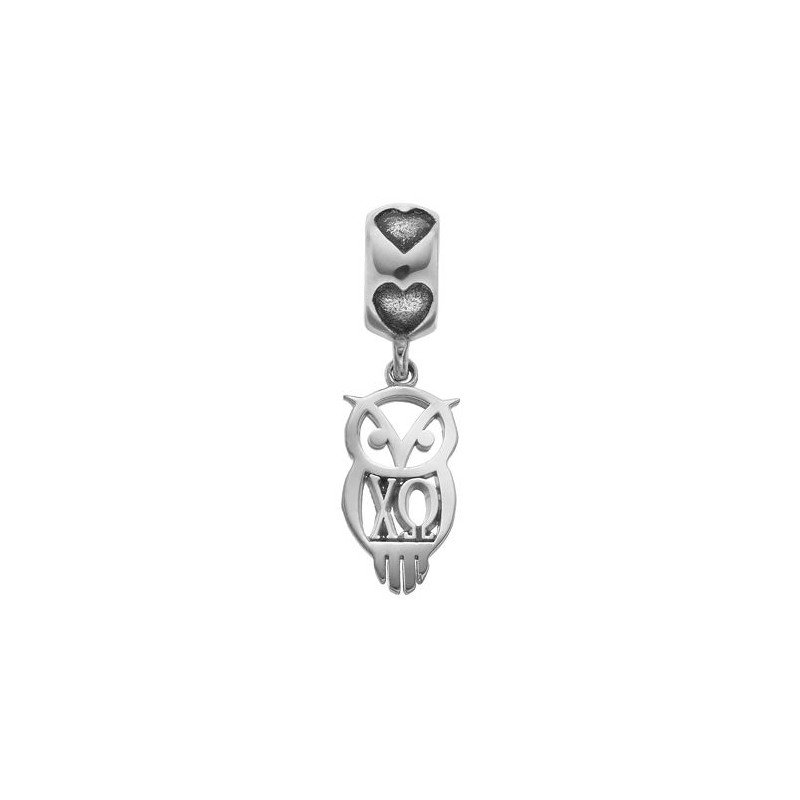 Greek Life Sterling Silver Chi Omega Greek Life Bead