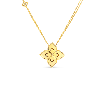 18K Medium Flower Pendant