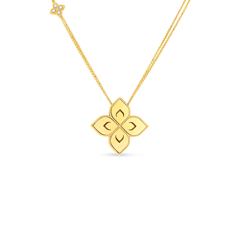 Roberto Coin 18K Medium Flower Pendant