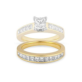 18K YG DiamondWedding Band