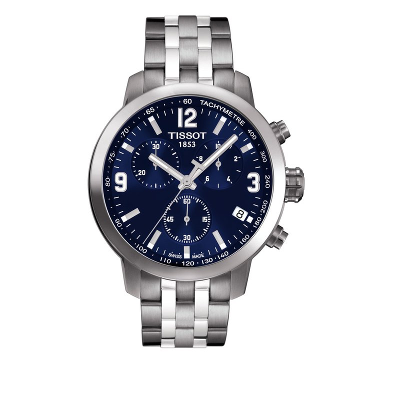 Tissot PRC 200 Men's Blue Chronograph Quartz Sport Watch
