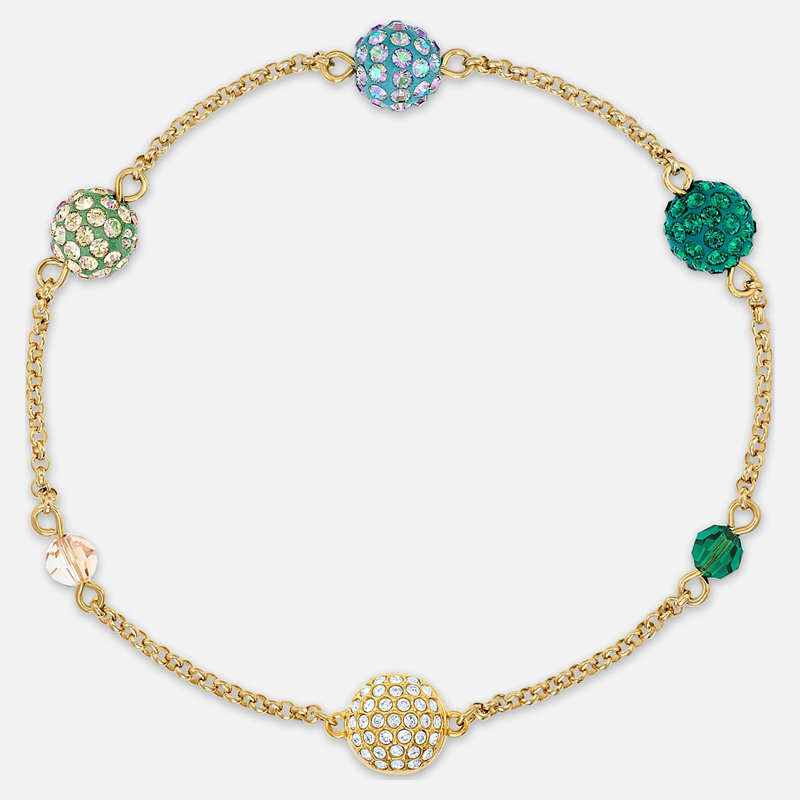 Swarovski Swarovski Remix Collection Pop Strand, Green, Gold-tone plated