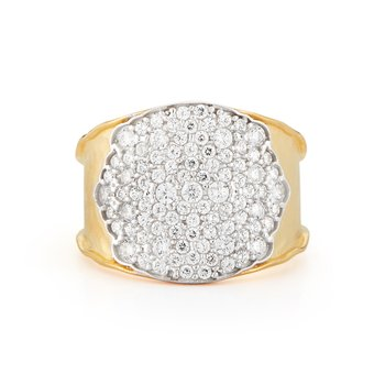14K-Y PAVE RING, 0.95CT