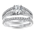 Caro74 Diamond Engagement Ring Mounting in 14K White Gold with Platinum Head (.61 ct. tw.)