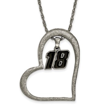 Stainless Steel 18 Kyle Busch NASCAR Pendant