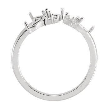 18K White Negative Space Ring Mounting