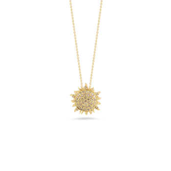 18KT GOLD SUN PENDANT WITH DIAMONDS