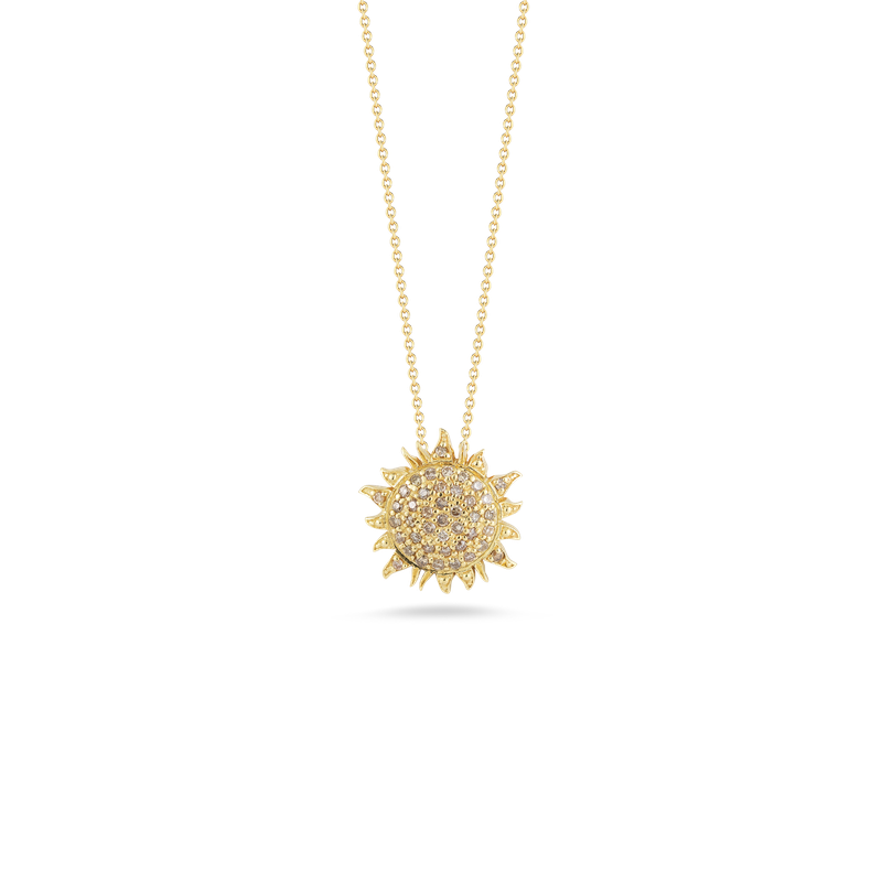 Roberto Coin 18Kt Gold Sun Pendant With Diamonds