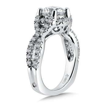 Luxury Collection Criss Cross Engagement Ring with Side Stones in 14K White Gold (1-1/2ct. tw.)