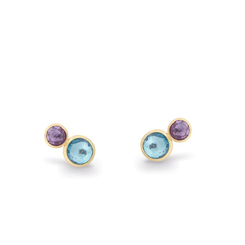 Marco Bicego Jaipur Two Stone Stud with Topaz and Amethyst
