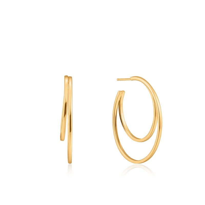 Ania Haie CRESCENT HOOP EARRINGS