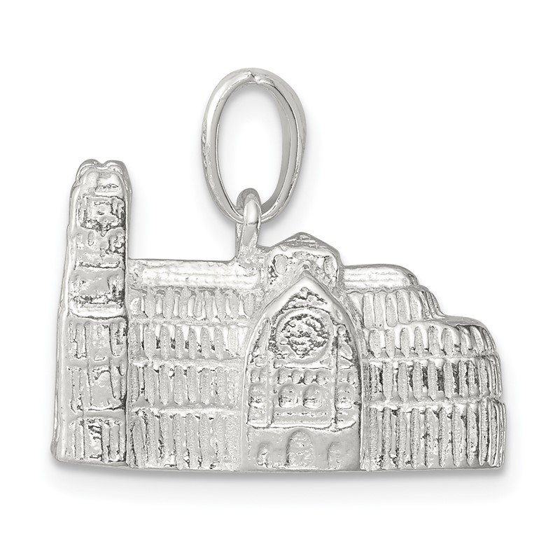 Quality Gold Sterling Silver Westminster Abbey Charm