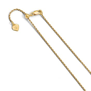Leslie's Sterling Silver 1.2 mm Gold-plated Adjustable Rope Chain