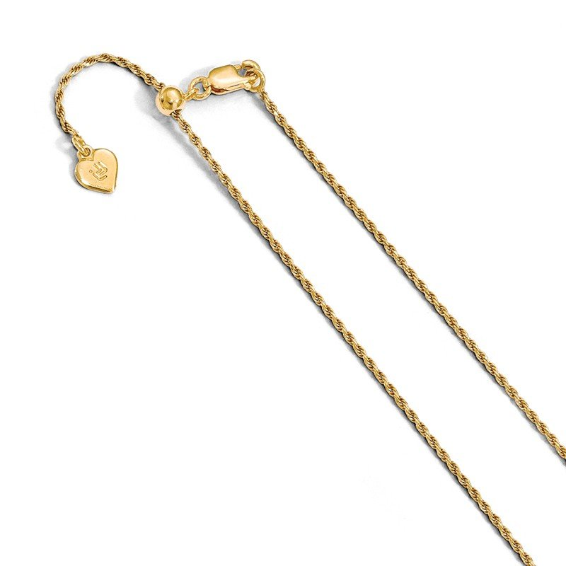 Leslie's Leslie's Sterling Silver 1.2 mm Gold-plated Adjustable Rope Chain