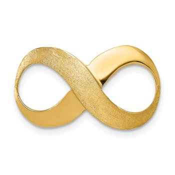 14k Infinity Figure Eight Polished and Textured Slide
