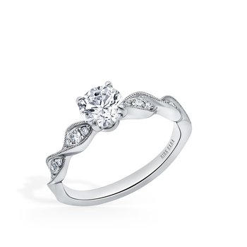 Milgrain Twist Diamond Engagement Ring