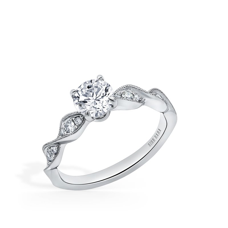Kirk Kara Milgrain Twist Diamond Engagement Ring