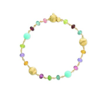 Africa Gemstone and Turquoise Single Strand Bracelet