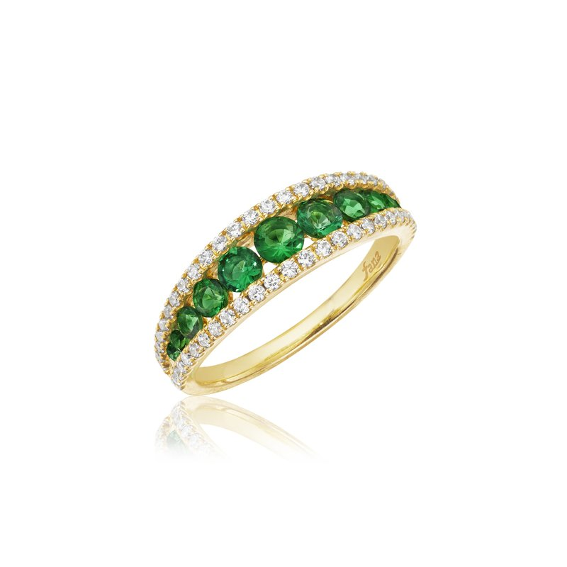 Walk This Way Emerald and Diamond Ring