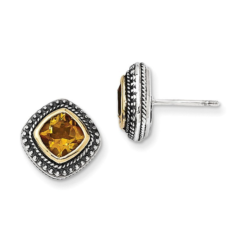Shey Couture Sterling Silver w/14k Citrine Earrings