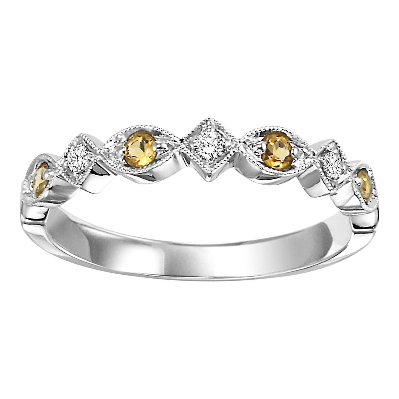 Mixables 10K Citrine & Diamond Mixable Ring