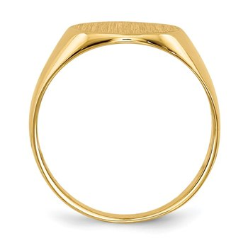 14k 10.5x11.0mm Closed Back Signet Ring