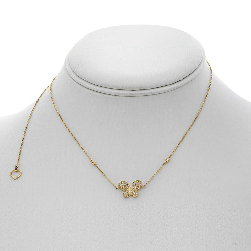 Roman & Jules Yellow Gold Butterfly Necklace