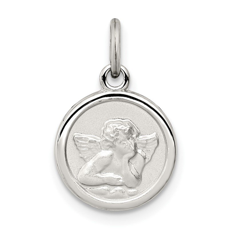 Lester Martin Online Collection Sterling Silver Rhodium-plated Angel Medal Charm