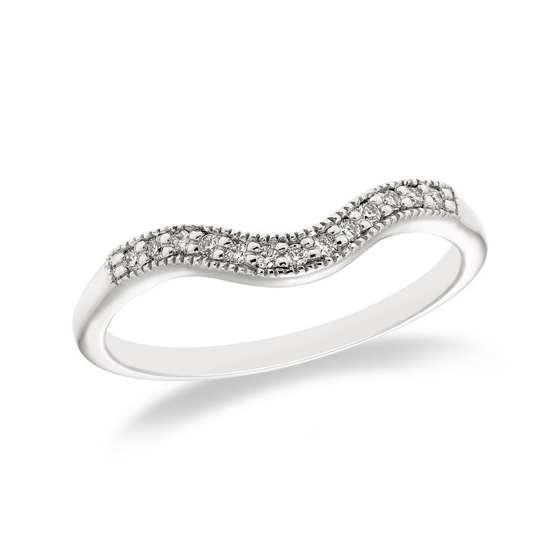 Victor White gold & diamond curved wedding band