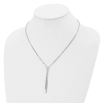 Leslie's Sterling Silver Polished Adjustable Necklace