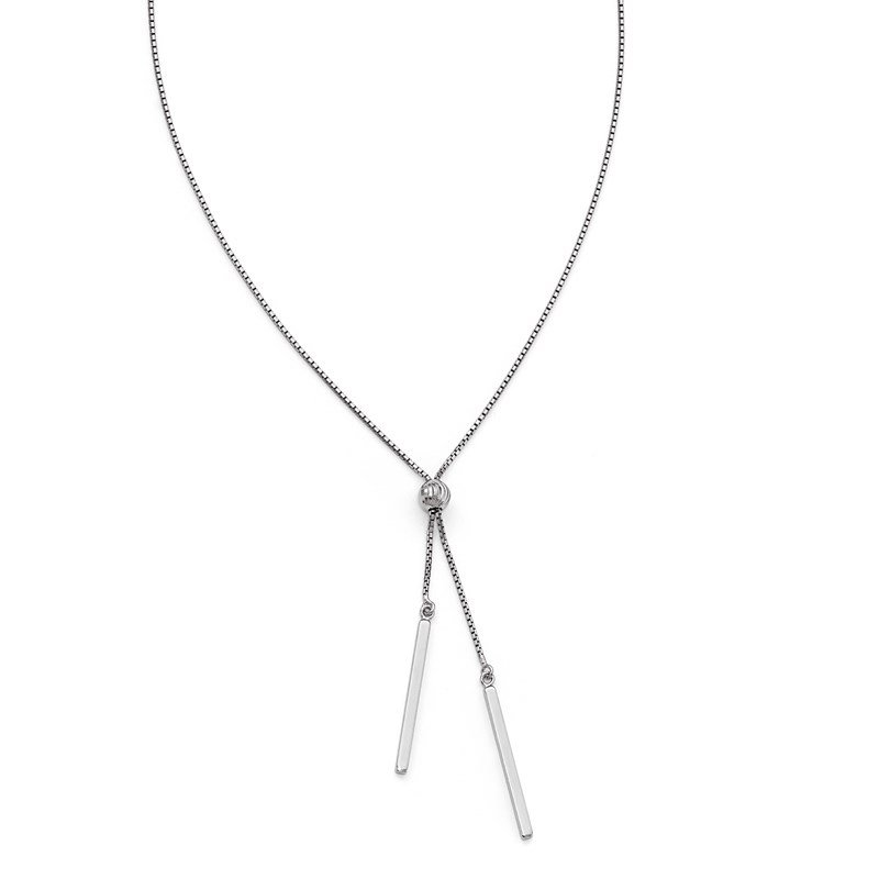 Leslie's Leslie's Sterling Silver Polished Adjustable Necklace
