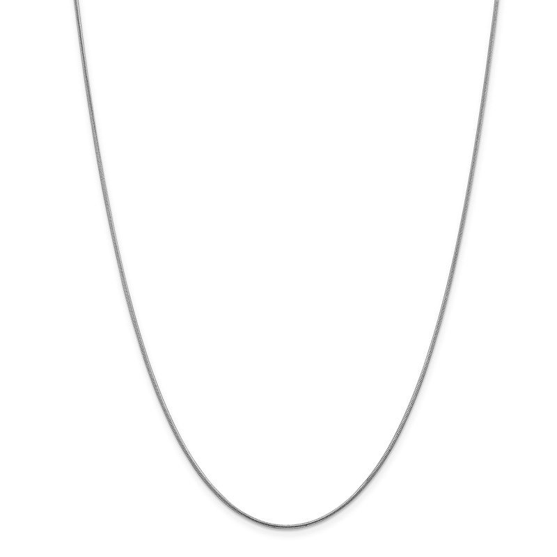 Leslie's Leslie's 14K White Gold 1 mm Snake Chain