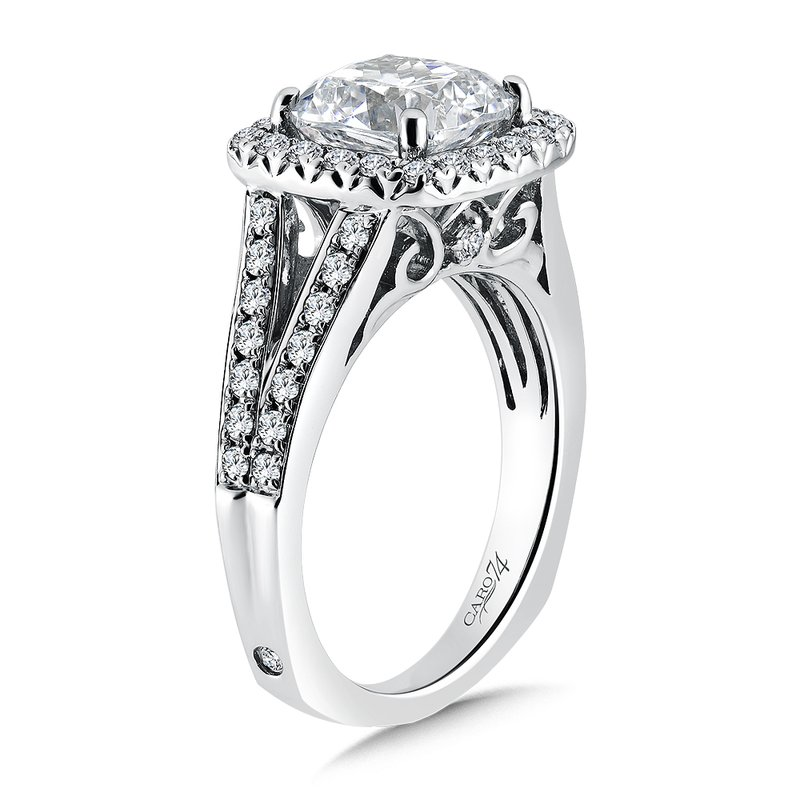 Caro74 Grand Opulance Collection Cushion Shape Center Halo Engagement Ring (3 ct. tw.)