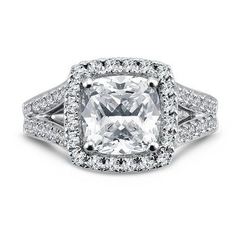 Grand Opulance Collection Cushion Shape Center Halo Engagement Ring (3 ct. tw.)