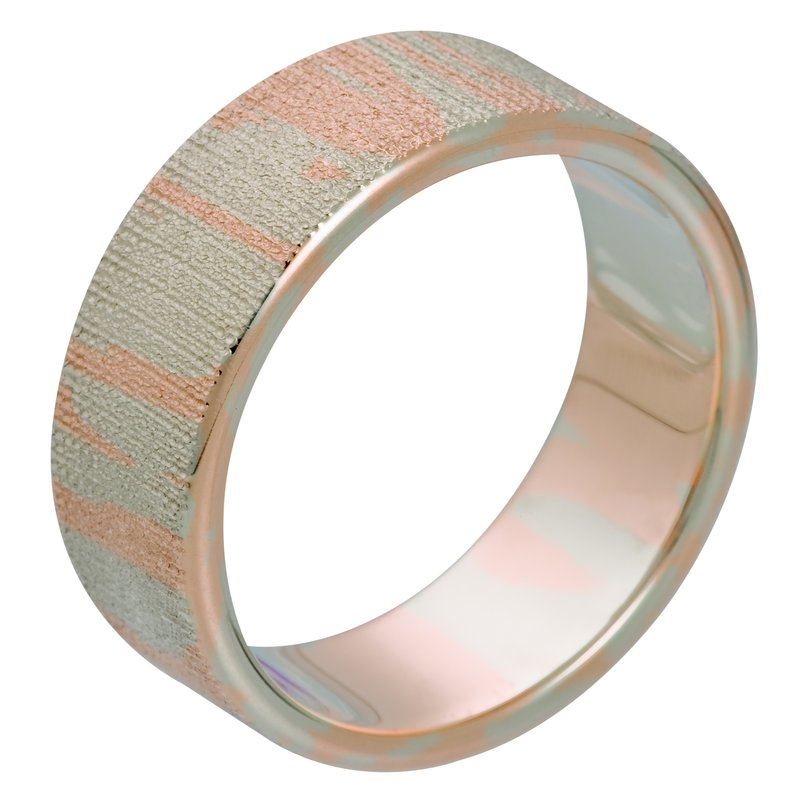 per Amoré Flat band with soft frosted design