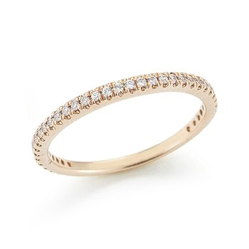 14K-P STACKABLE GALLERY RING, 0.25CT