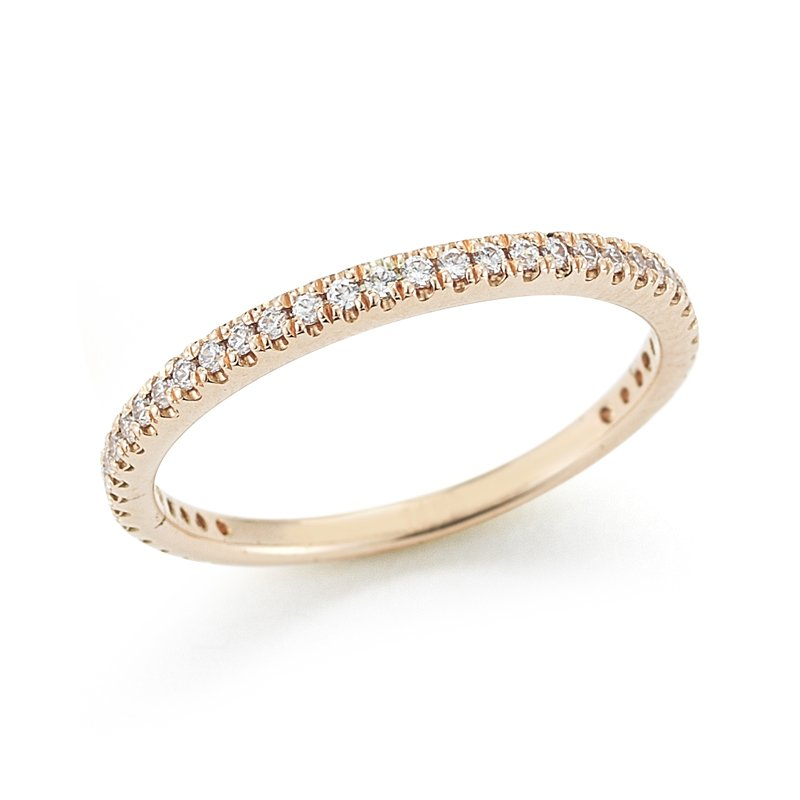 I. Reiss 14K-P STACKABLE GALLERY RING, 0.25CT