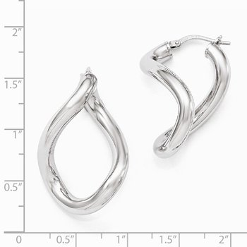 Leslie's' Sterling Silver Polished Twisted Hoop Earrings